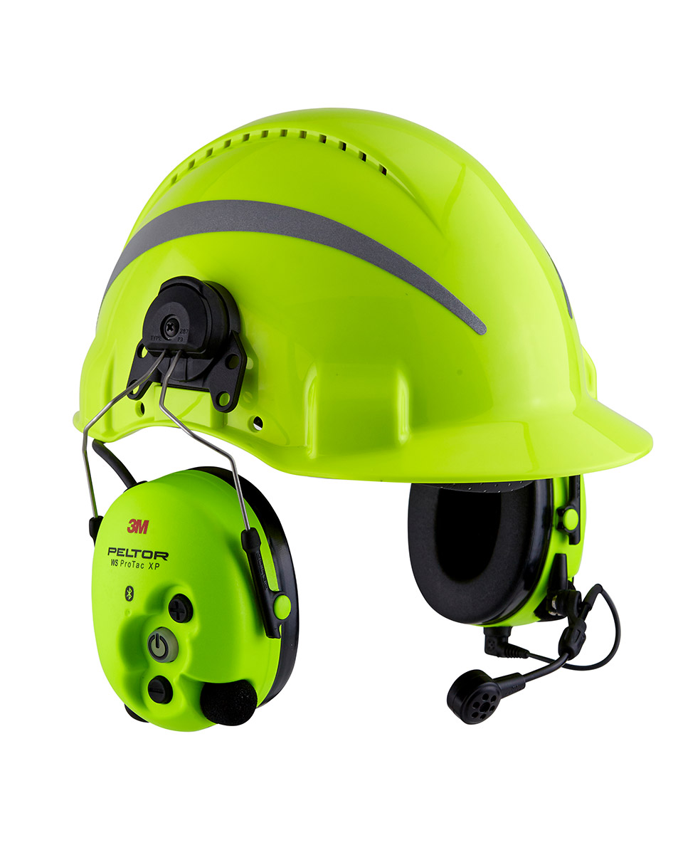 Combiné casque radio HiVis 3M™ WS ProTac™ XP Forestry™