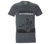 T-shirt Lumberjack Mountains de KOX gris