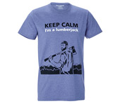 T-shirt Lumberjack Mountains de KOX bleu