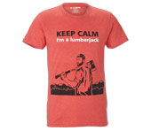 T-shirt Lumberjack Mountains de KOX noir