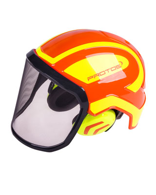 Combiné casque Protos Integral Forest en orange/jaune